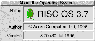 About GUI in RISC OS 3.7 (About the Operating System)