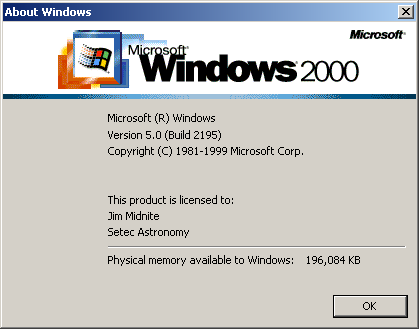 About GUI in Windows 2000 Advanced Server
