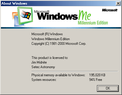 About GUI in Windows Me (About Windows)