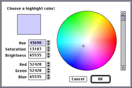 Colour selector in System 7.0