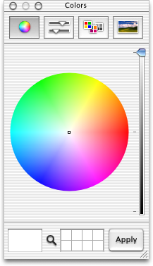 Colour selector in Mac OS 10.0.4