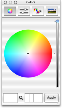 Colour selector in Mac OS 10.1