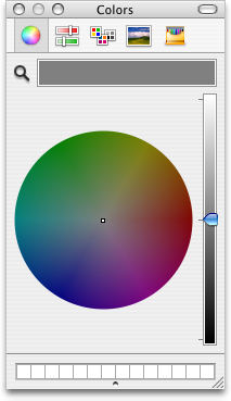 Colour selector in Mac OS X Panther