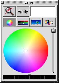 Colour selector in Mac OS X DP