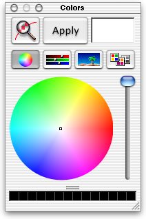 Colour selector in Mac OS X DP 3