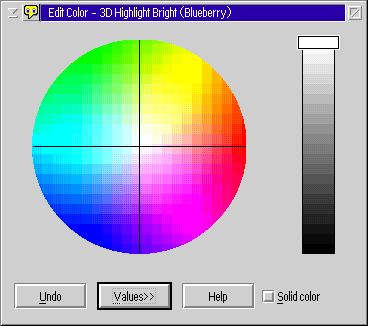 Colour selector in OS/2 Warp 4