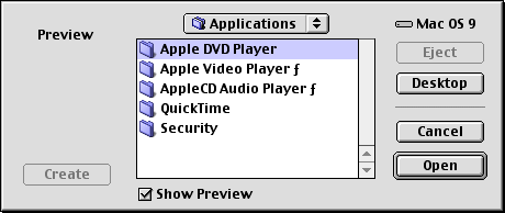 Open file in Mac OS 9.0