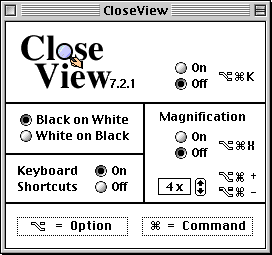 Accessibility in Mac OS 8.0 (CloseView)