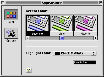 Appearance in Mac OS 8.0 (Appearance)