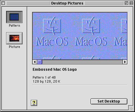 Appearance in Mac OS 8.0 (Desktop Pictures)