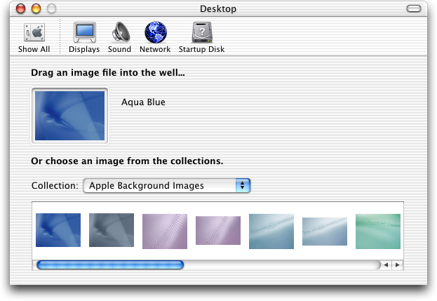 Appearance in Mac OS 10.1 (Desktop)