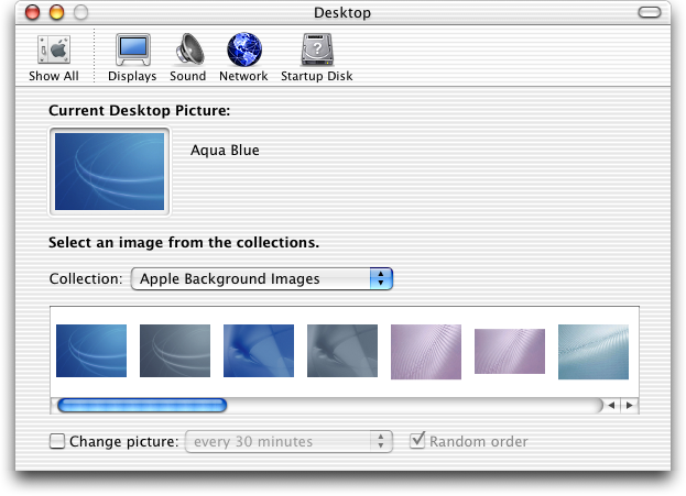 Appearance in Mac OS X Jaguar (Desktop)