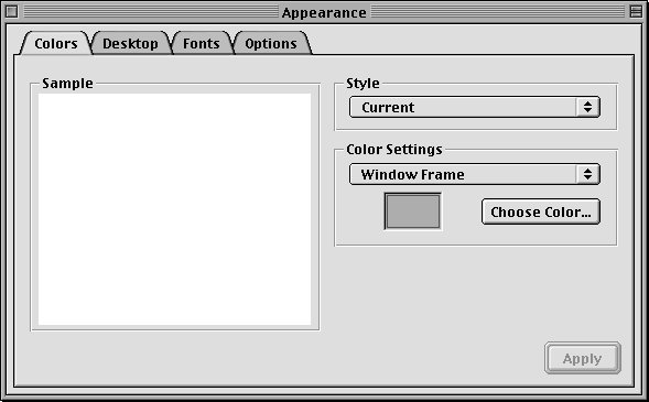 Appearance in Mac OS X DP (Appearance)