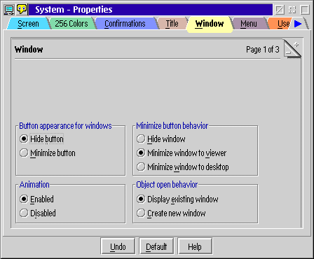 Appearance in OS/2 Warp 4