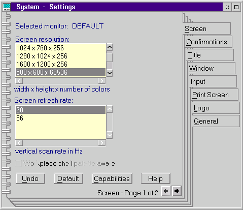 Display in OS/2 Warp 3