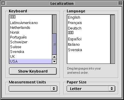 International in Mac OS X DP (Localization)