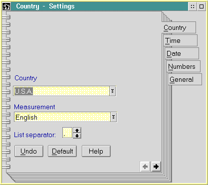International in OS/2 2.1 (Country)