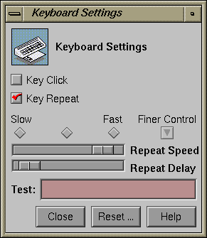 Keyboard in IRIX 5.3 (Keyboard Settings)