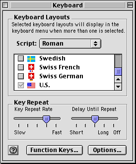 Keyboard in Mac OS 9.0 (Keyboard)