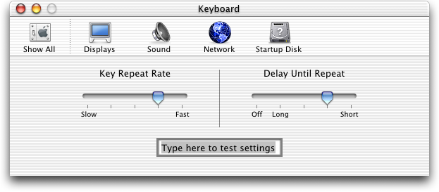 Keyboard in Mac OS 10.0.4 (Keyboard)
