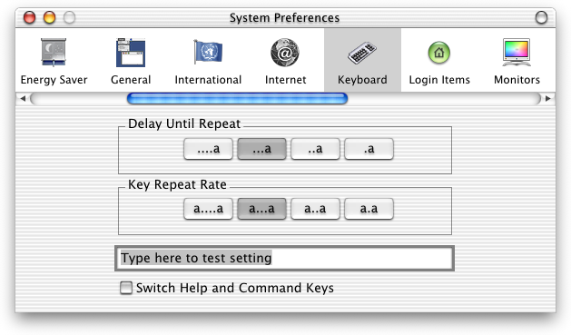 Keyboard in Mac OS X DP 4 (Keyboard)