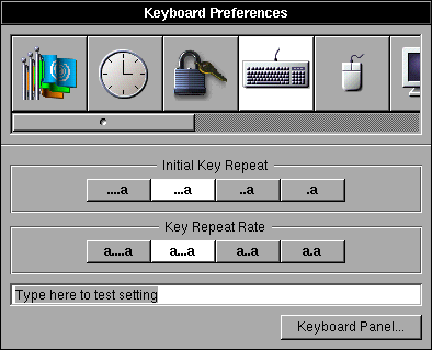 Keyboard in OPENSTEP 4.2 (Keyboard Preferences)