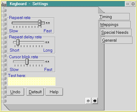 Keyboard in OS/2 2.1 (Keyboard – Settings)