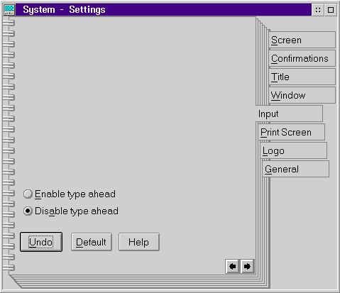 Keyboard in OS/2 Warp 3 (System – Settings)