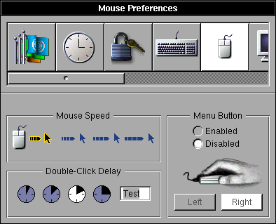 Mouse in OPENSTEP 4.2 (Mouse Preferences)