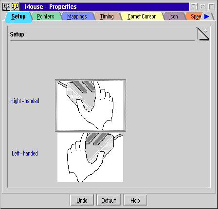 Mouse in OS/2 Warp 4 (Mouse – Properties)