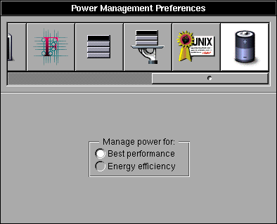 Power management in OPENSTEP 4.2 (Power Management Preferences)