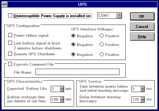 Power management in Windows NT 3.51 Workstation