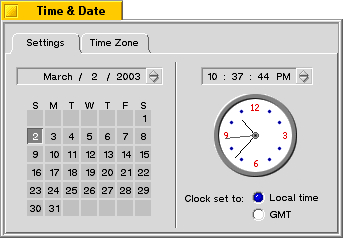 Time and date in BeOS R5.0.1 PE (Time & Date)