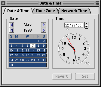Time and date in Rhapsody DR2 (Date & Time)