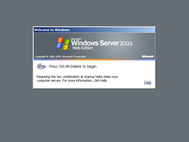 guidebook gt screenshots gt windows server 2003 web