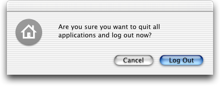 Logout screen in Mac OS 10.1