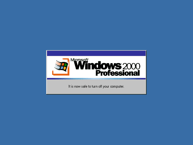 Guidebook screenshots shutdown complete for Windows 95 startup sound