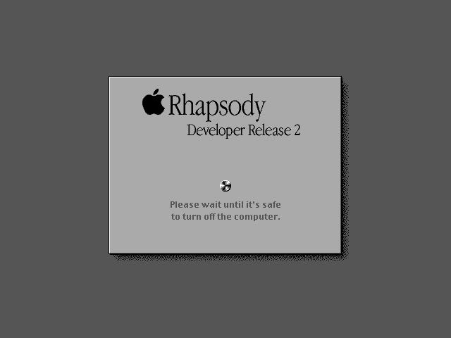 Shutting down in Rhapsody DR2