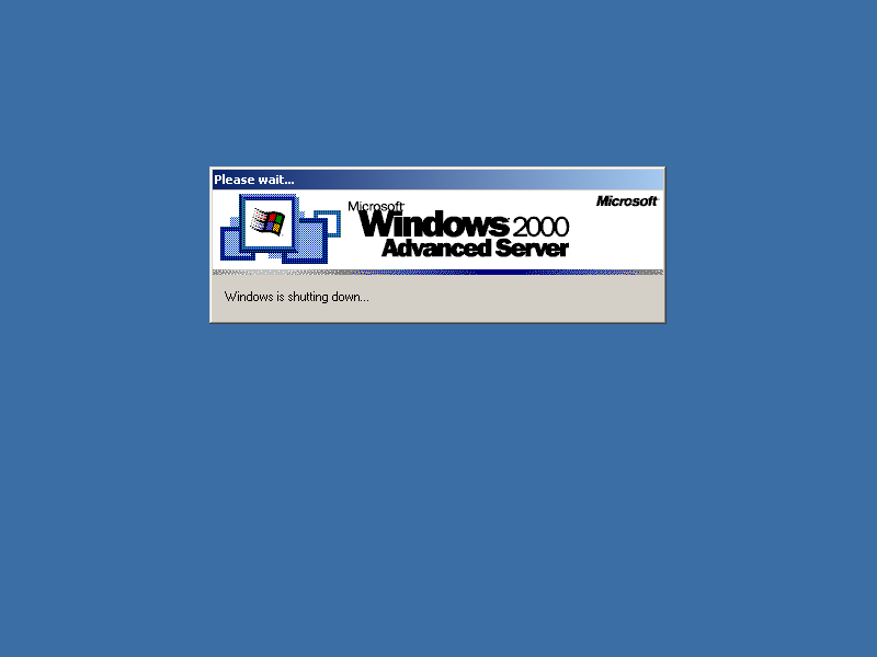 Shutting down in Windows 2000 Advanced Server