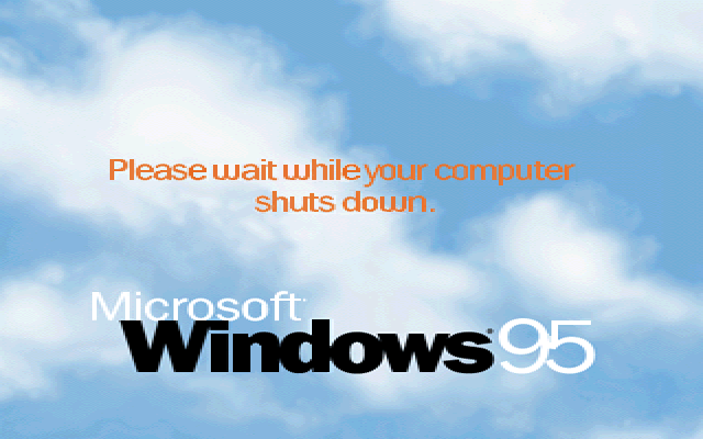 Shutting down in Windows 95B