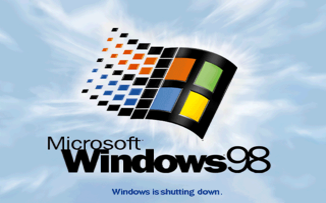 Shutting down in Windows 98 SE