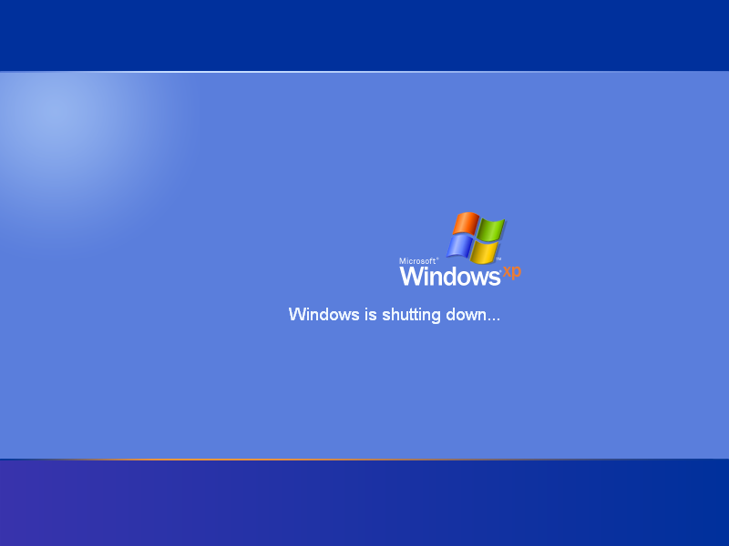 Shutting down in Windows XP Pro