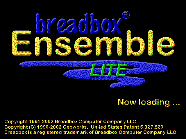 Welcome splash in BreadBox Ensemble Lite