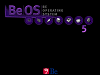 Welcome splash in BeOS R5.0.1 PE