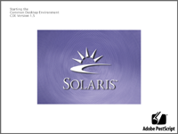 Welcome splash in CDE 1.5 in Solaris 9