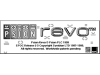 Welcome splash in EPOC R5/Psion Revo