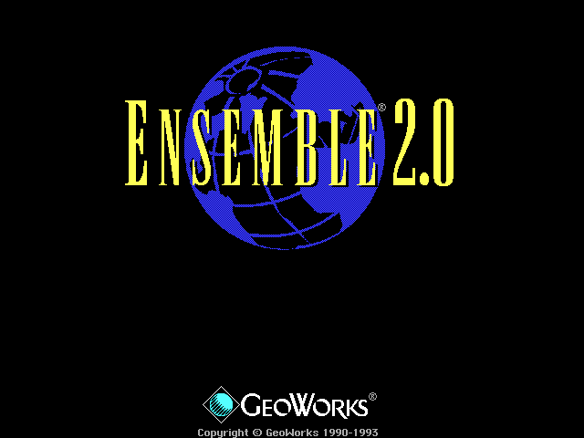 Welcome splash in GeoWorks Ensemble 2.0