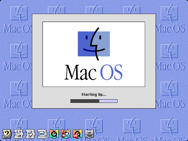 Welcome splash in Mac OS 8.0
