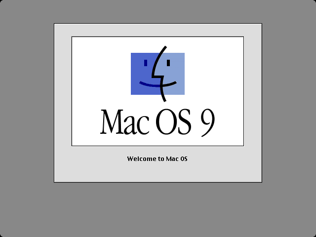 Welcome splash in Mac OS 9.0