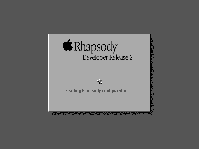 Welcome splash in Rhapsody DR2